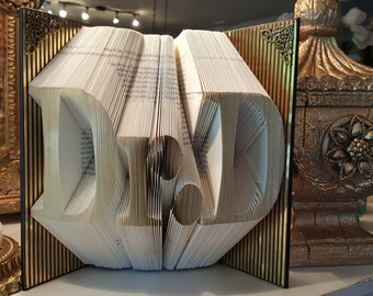 Doctor Folded book art, Doctor graduation gift, Office Decor, Gift Ideas, Friends & Coworkers, Graduate School Gift, PhD Gift, EdD Gift