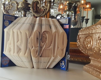 Police Folded Book, Police, Law Enforcement Gift, Police Badge Number, Thin Blue Line, Police Retirement, Police Officer Gift, Police Gift