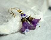 Purple Bell Flower Fairy Earrings