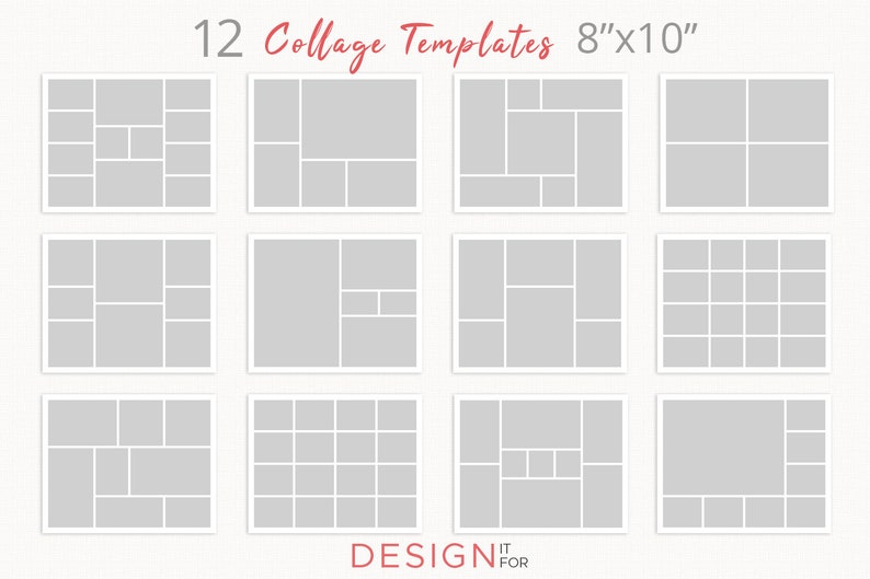 Photo Collage Template Psd Storyboard template bundle blog image 1