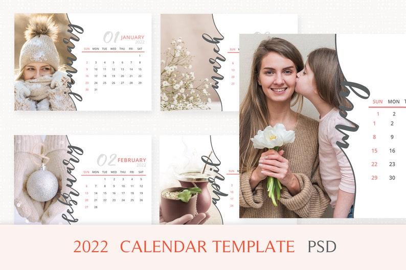 2022 Calendar Template Desk Calendar 2022 Printable image 0