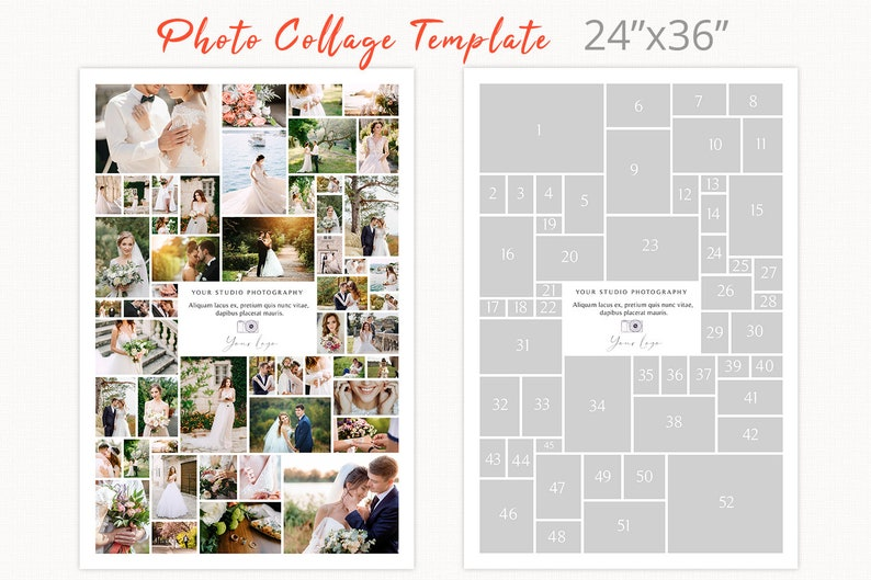 Poster size photography collage template 24 x 36 photoshop image 0