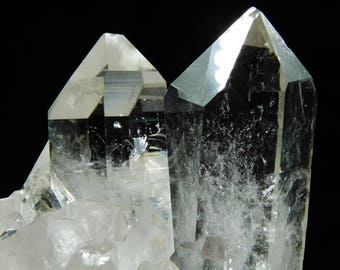 SIX! Super Translucent AAA Quartz Crystals in a Cluster Found in Brazil 201gr