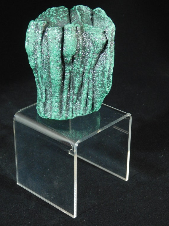 A Small LUCITE Riser Display Stand for Crystals Fossils Minerals and More!