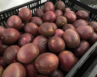ORGANIC Passion Fruit -- California Grown Purple Passiflora 'Frederick' -- 4 Lbs