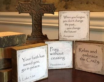 Inspirational/Scripture Quote Block