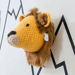 Nursery wall art, Crochet Lion, taxidermy,  lion wall, lion head, kids decor, animal head wall, babies room, nursery decor, baby shower