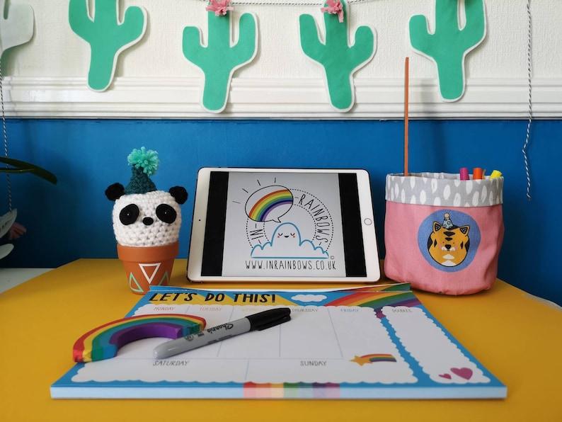 office gift Crochet panda desk ornament animal decoration kawaii panda cute panda panda ornament