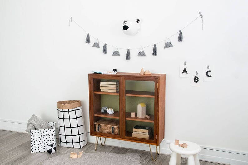 nursery decor Nursery art bear decor kids bedroom decor, Arctic animal polar bear head Polar bear monochrome art kids room decor
