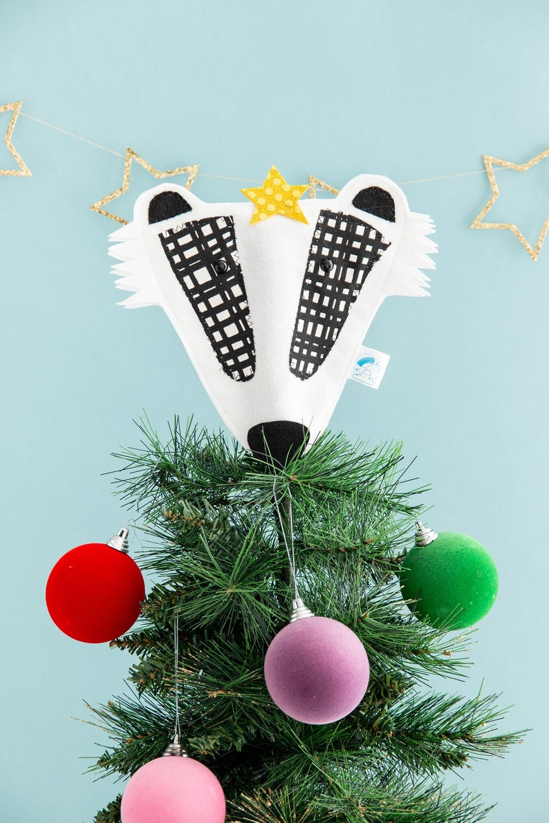 Badger Christmas tree topper image 0