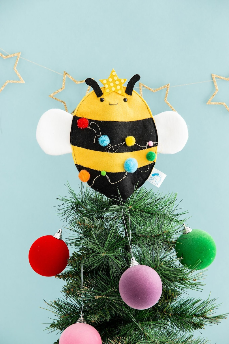 Bee Christmas tree topper bee decoration funny Christmas image 0