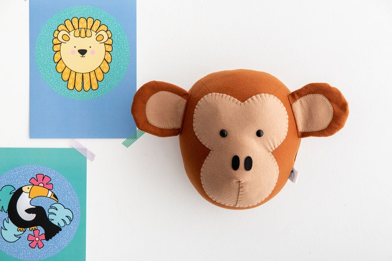 Taxidermy monkey animal head monkey head animal heads kids image 0