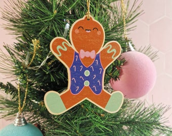 Gingerbread Christmas decoration, silly festive decoration, cute festive food decoration