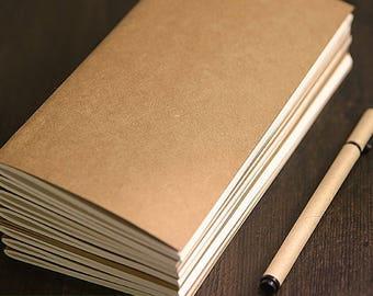 All sizes Traveler's Notebook Insert, Kraft Cover Traveller's Refill Personal Standard