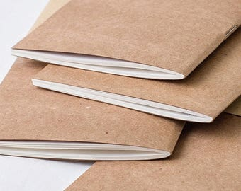 All sizes Traveler's Notebook Insert, Kraft Cover - Choice of Paper Pattern; lined, grid, dotted Traveller's Refill Personal Standard
