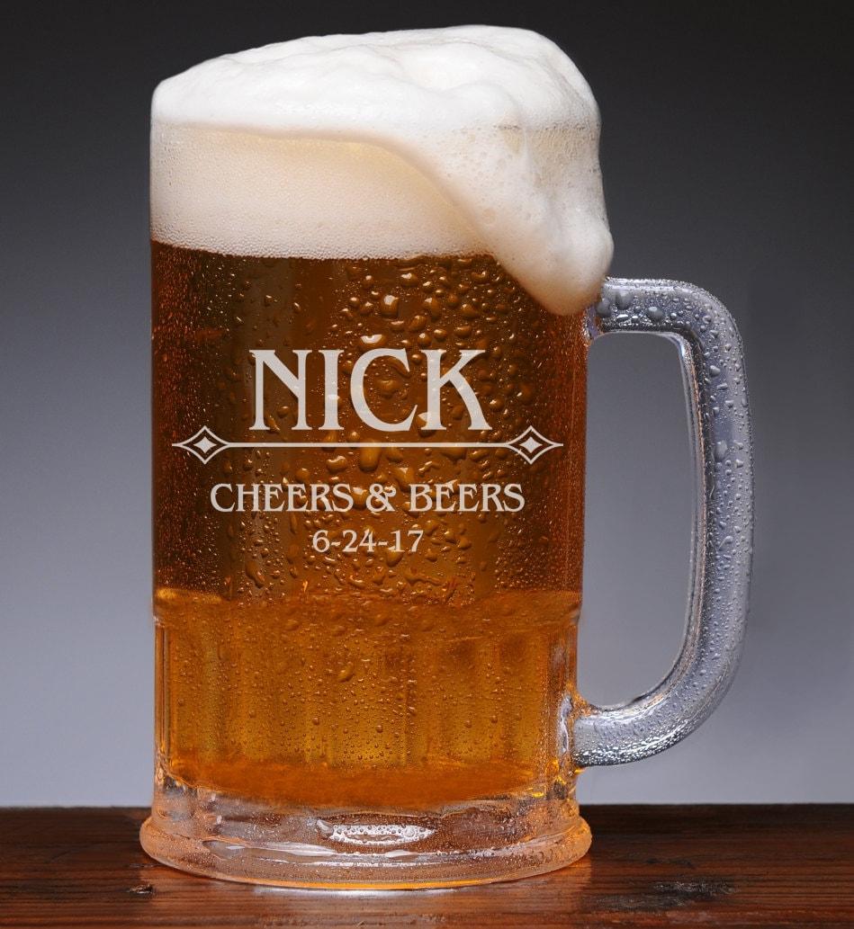 Mens Wedding Gift Ideas: Personalized Beer Mug Mens Gift Ideas Wedding Party Mugs