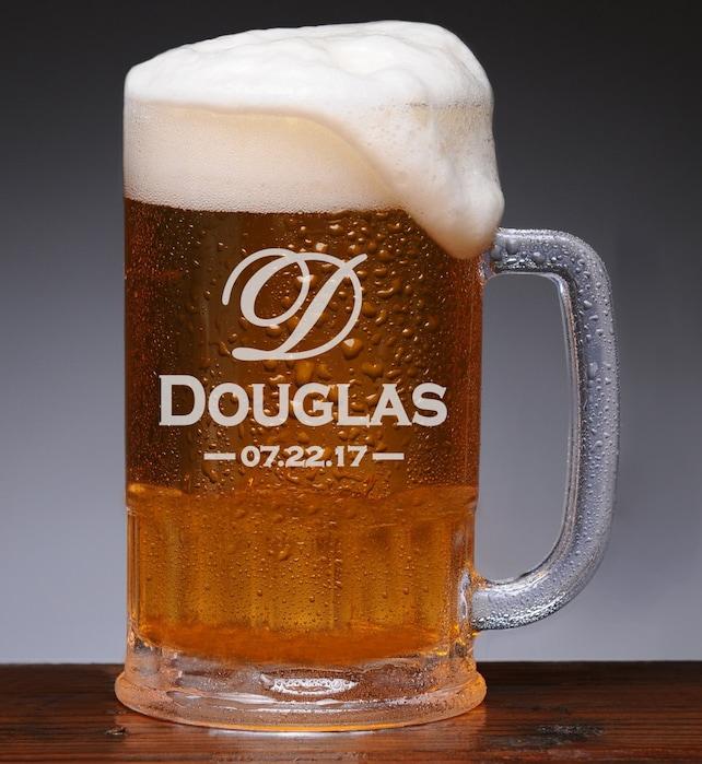 Beer Mug Wedding Favors Gifts for Men Personalized Groomsmen | Etsy