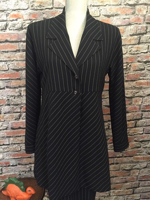 Vintage Lagerfeld 1980's Power Suit Navy  Size US