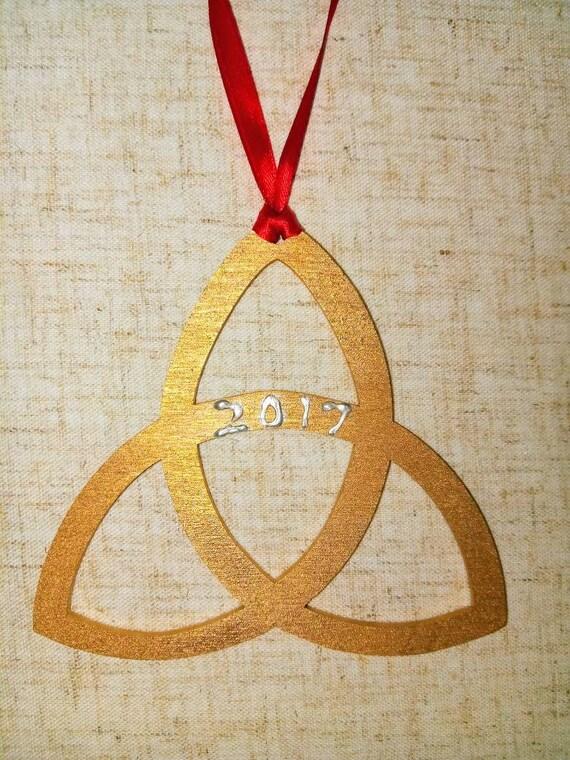 Trinity Ornament Celtic Trinity Symbol Ornament Holy Trinity Etsy