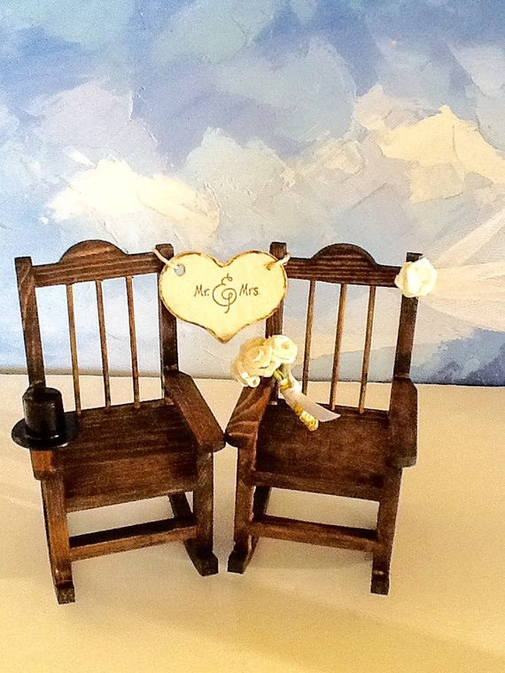 Wedding Cake Topper Rocking Chaise Gâteau Cake Etsy