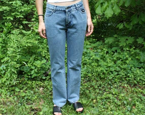 Harley Davidson Medium-light Wash Denim Jeans. Boot cut size 6.