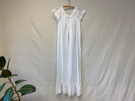 Christian Dior Lingerie Sheer Cotton Negligee Unis