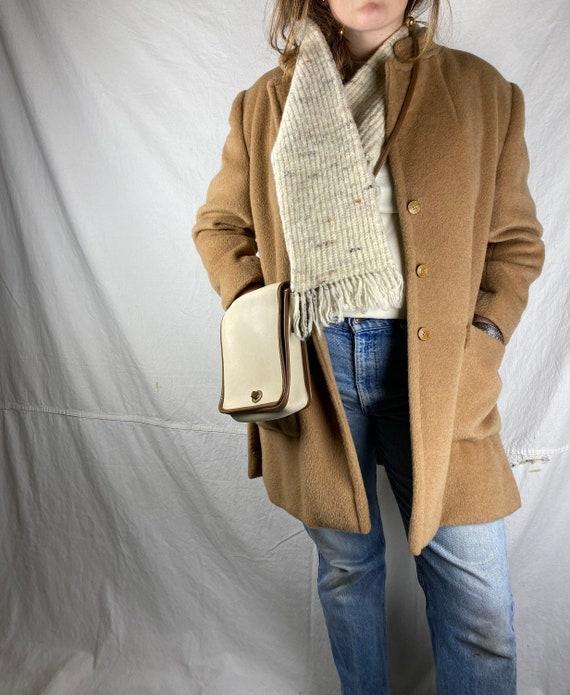 Pendleton Speckled Cream Wool Knit Vintage Unisex… - image 3