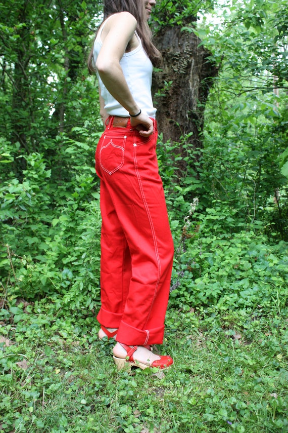 Red Wrangler 1970's USA Jeans