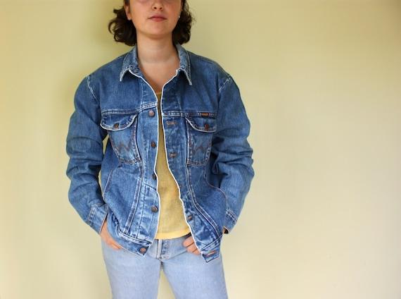 Wrangler Vintage Denim Jeans Jacket W Pocket