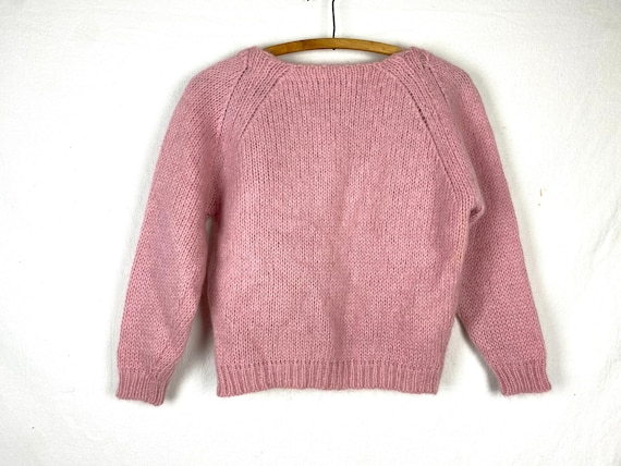 Amazing Bubblegum Boatneck Pink Knit Sweater. Unis