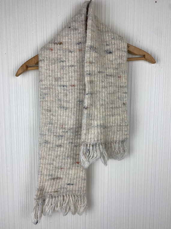 Pendleton Speckled Cream Wool Knit Vintage Unisex… - image 5