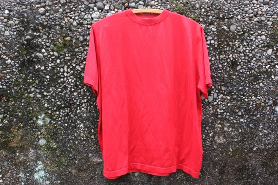 Basic Red Knit Tee. Super Soft, Lightweight and Sheer.