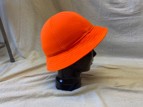 Blaze Orange Vintage Bucket Hat. Size Small