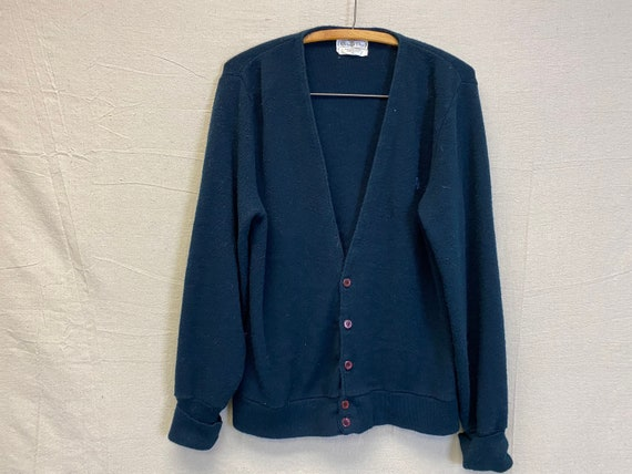 Navy Blue Dior Button Down Sweater Unisex Large