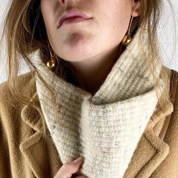 Pendleton Speckled Cream Wool Knit Vintage Unisex… - image 1