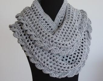 Infinity Scarf Pattern, Crochet Infinity Scarf Pattern, Crochet Scarf Pattern,  Scarf Pattern, Instant Download, Crochet Pattern