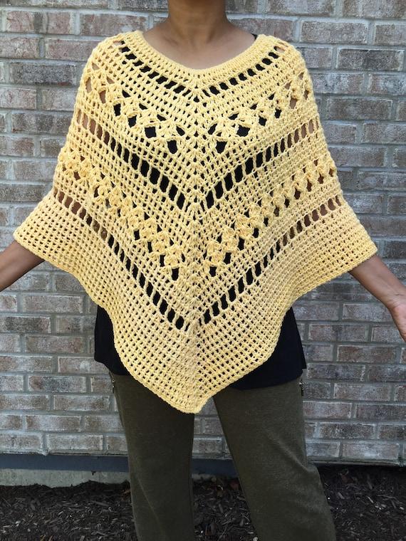 Multi Pattern Crochet Poncho Pattern Crochet Poncho Pattern | Etsy