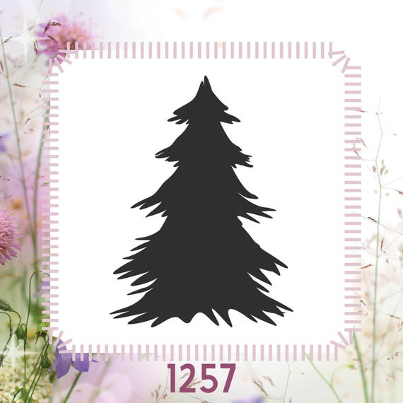 Holiday Christmas Tree Winter DIY Reusable Stencil