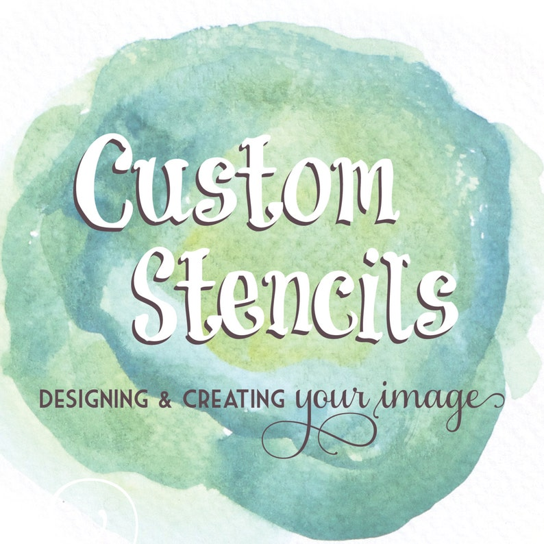Custom Reusable Stencils  Custom Stencil  From Your Image or image 0