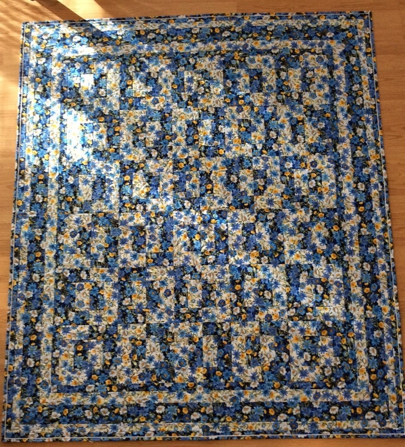 137 cm wide by 62 inches 157 cm long 54 inches Spring  LapThrow Quilt Ready To Ship