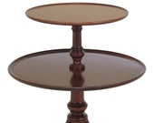 46958EC BIGGS Queen Anne Mahogany 2 Tier Dumbwaiter Table