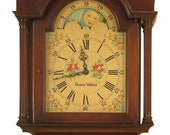 46591EC COLONIAL Edison Institution Goddard Townsend Mahogany 5 Tube Grandfather Clock