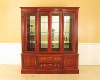 45617EC: PENNSYLVANIA HOUSE 4 Door Beveled Glass Cherry Breakfront