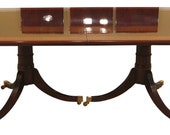 30426EC BAKER Stately Homes Collection Banded Mahogany Dining Room Table