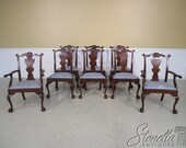 L36455E Set Of 8 HENKEL HARRIS Model 102 Claw Foot Dining Room Chairs