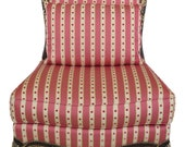 L45974EC EJ VICTOR French Louis XV Upholstered Slipper Chair