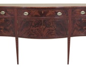F46663EC Antique Federal Style Inlaid Mahogany Sideboard