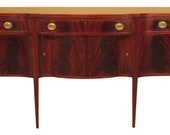 F46983EC Antique Custom Made Inlaid Mahogany Federal Sideboard