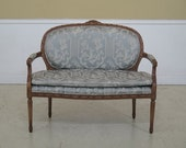 45862EC French Louis XV Carved Frame Settee Loveseat