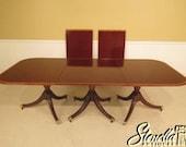 L38936E Custom Made English Mahogany 3 Part Banquet Dining Table